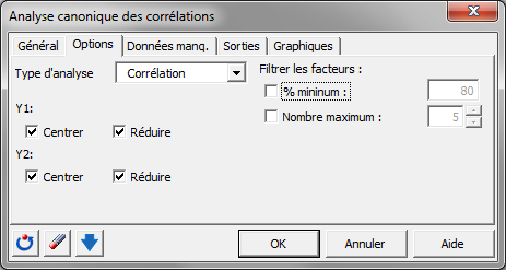corrélations canoniques software package