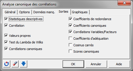 corrélations canoniques package