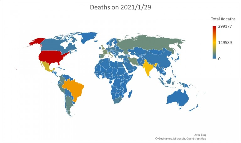 Figure: Deaths on 2021/1/29