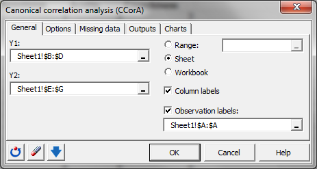 a description of the correlation analysis statistical tool