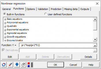 Nonlinear regression | Statistical Software for Excel