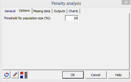 penalty analysis XLSTAT options tab