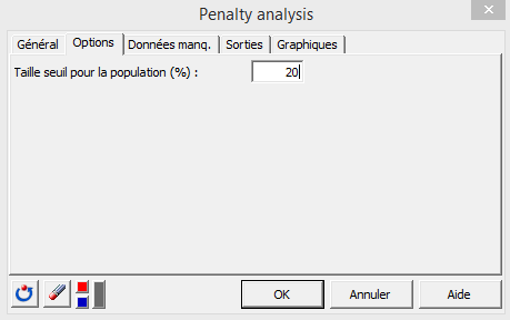 penalty analysis dialog box fr xlstat options tab
