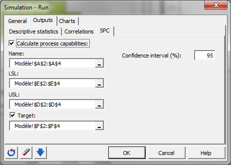 Simulation: Dialog box - Run - Outputs - SPC