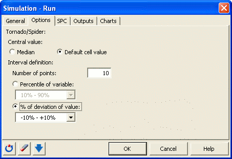 Simulation: Run dialog box - Options