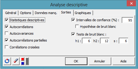 time series dialog box 3