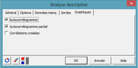 time series dialog box 4